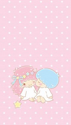 Little Twin Stars Wallpaper Sanrio Wallpaper, Star Wallpaper, Hello Kitty Wallpaper, Kawaii Wallpaper, Iphone Wallpaper, Little Twin Stars, Little Star, Sanrio Characters, Cute Characters