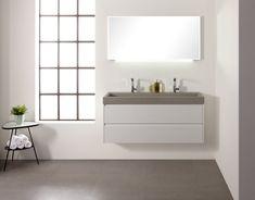 Nieuw van #Thebalux: prachtige betonnen #wastafels voor de badkamer.