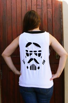 Stormtrooper Cut Out Shirt. This takes short cutting to a whole other geeky level. My kind of level.