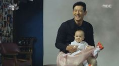 The bedimpled Oh Ji Ho with a cutey baby. Oh Ji Ho, My Little Baby, Slice Of Life, 5 Year Olds, Korean Men, Korean Drama, First Love, Children, Movies