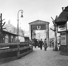 Alexanderplatz 1928 Eingang zum U-Bahnhof