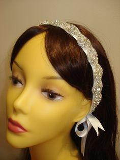 Bridal Headband, Rhinestone Headpiece, Bridal Hair, Bride Hair Accessory, Wedding Headpiece, Wedding accessory