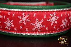 Handmade Martingale Leather Dog Collar WINTER by dogsartcollars