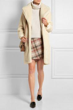 Carven Checked wool-blend mini skirt NET-A-PORTER.COM