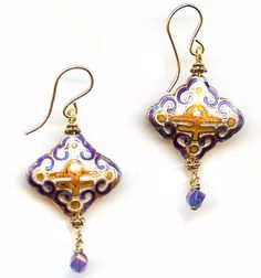 Diamond Blue Earring Kit With Cloisonne Beads Http Beadinspirations