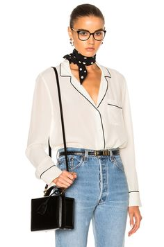 Image 1 of Equipment Keira Top in Nature White