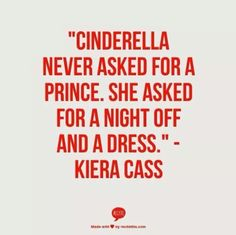 By Kierra Cass author of The Selection Series. - She got inspired by the story of Cinderella.