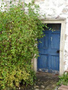 vwcampervan-aldridge:    Blue door to stone barn, Malham, Yorkshire Dales.