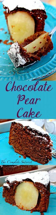 Chocolate Pear Cake - The Complete Savorist
