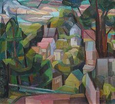 Clara Deike (1881-1964) - Cubist Landscape, 1942