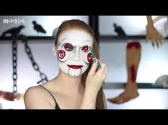 Madeyewlook! Billy - Jigsaw Saw Makeup Tutorial - LATEX FREE (CC).mp4 - YouTube Saw Halloween Costume, Up Halloween, Halloween Makeup, Saw Makeup, Jigsaw Costume, Jigsaw Saw, Special Effects Makeup, War Paint, Latex Free