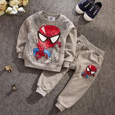 Cheap children clothing set, Buy Quality clothing sets directly from China children clothing Suppliers: new Spiderman Children Clothing set Baby Boys Spider-man Sports Suits Y Kids hoody + pants Sets Spring Autumn clothes Cute Outfits For Kids, Toddler Outfits, Baby Boy Outfits, Children's Outfits, Kids Fashion Boy, Toddler Fashion, Ropa Interior Babydoll, Spiderman Kids, Track Suit Men