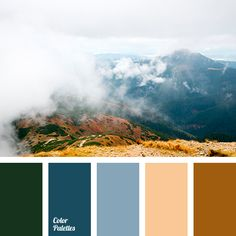 """""""dusty"""" blue, Blue Color Palettes, brown, cold shades of brown, color of tree, Cyan Color Palettes, dark green, gray-blue, jeans, jeans-blue color, palette for winter, reddish brown, shades of cyan, shades of gray and blue, tree color."""