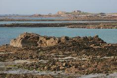 Cobo Bay à marée basse, Guernesey — juin 2011