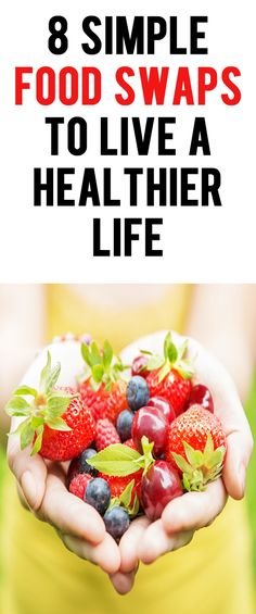 .8 simple food swaps to live a healthier life. #nutritiontips #healthyeating #health #buzzfeed #weightlosstips