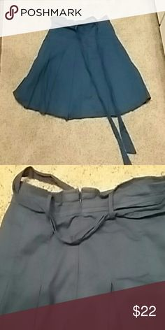 Cute Blue Forever 21 skirt with belt! Super cute royal blue skirt with matching tie belt from Forever 21! 16 inches long, slightly pleated. Flowy and fun! Forever 21 Skirts