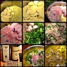 """Gregada"" Dalmatian fish soup. My version with monkfish"