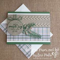 Christmas Pines Stamp Set - Pretty Pines Thinlits -  Stampin' Up! StampinUp - Warmth & Cheer DSP