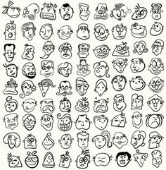 Lettering Fonts Discover Doodle cartoon face caricature vector 169334 - by serg-wsq on VectorStock Doodle Cartoon, Cartoon Faces, Cartoon Drawings, Doodle Drawings, Doodle Art, Face Doodles, Doodle People, Doodle Inspiration, Sketch Notes