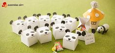 Panda gift candy box. The template to make one is on the website.