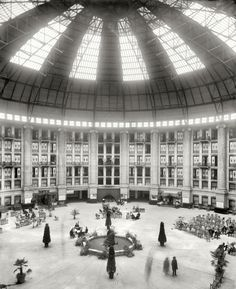 The Atrium West Baden Springs Hotel Near French Lick Indiana 1903