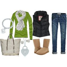"""""""green and blue"""" by sandreamarie on Polyvore.... no vest"""