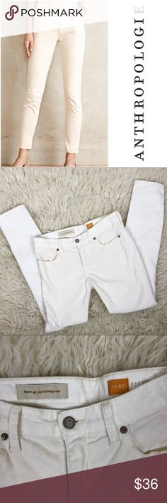 """Anthropologie Pilcro Stet Cords Anthropologie Pilcro Stet Cords size 27. Off white color.   • inseam 29"""" • Rise 8.75"""" • Cotton/spandex  • great condition - no visible flaws   (093) Anthropologie Pants Straight Leg"""