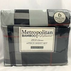 Metropolitan Bamboo Home 1800 Series 6 Pc Sheet Set Full 150729 for sale online Cuddle Duds, Queen Size Sheets, Cape Girardeau, Copper Lighting, Black Plaid, Sheet Sets, Luxury Bedding, Red And White, Bamboo