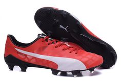 aaa1223ca 2015 Puma evoSPEED 1.4 SL FG Soccer Boots Cleats red white black $ 89.99