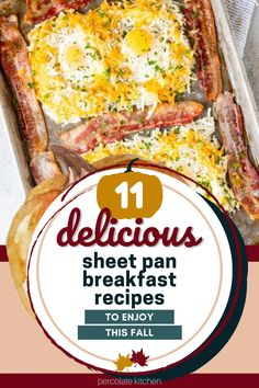 Sheet pan meals aren't just for dinner! Here are 11 easy breakfast recipes you can make using just a sheet pan and a hot oven. One Pan Dinner, Sheet Pan, Breakfast Recipes, Oven, Meals, Springform Pan, Meal, Ovens, Food