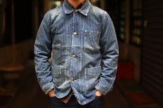 Very nice Fade wabash Work Jackets, Men's Coats And Jackets, Denim Jackets, Workwear Fashion, Denim Fashion, Mature Mens Fashion, Denim And Supply, Mens Clothing Styles, Vintage Denim
