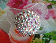 Big Bling Crystal Ball Pacifier  $23