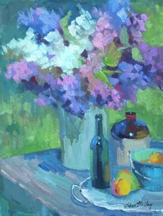 Plein Air Lilacs Towel (Beach Towel x by Diane McClary. Our towels are great. Old Orchard Beach, Large Beach Towels, Impressionist Artists, Bottle Painting, Lilacs, Artsy Fartsy, Fine Art America, Colorful Backgrounds, Wall Art