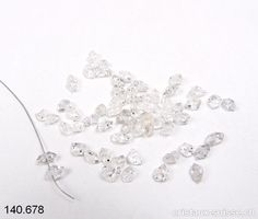 Herkimer Diamant biterminé, Type Himalaya percé, 4 à 7 mm long Creative, Crystal, Switzerland, Bijoux