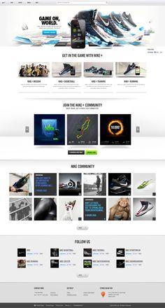 Nike.com - Homepage - Agency: R/GA NY #webdesign #design #designer #inspiration #user #interface #ui