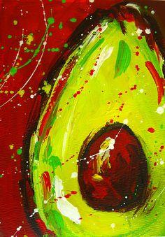 Modern Avocado painting by Patricia Awapara  #art #modernart