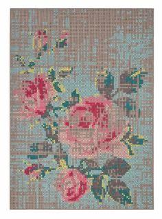 Gandia Blasco Canevas Spaces Flowers Rug | 2Modern Furniture & Lighting