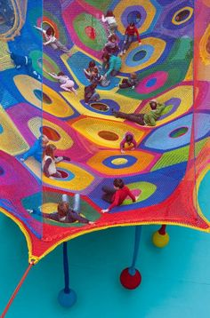 "'Harmonic Motion' – Crochet Playground at Toledo's Museum of Art! : ""Harmonic Motion"" — Crochet Playground at Toledo's Museum of Art! Museum Exhibition, Art Museum, Espace Design, Toledo Museum Of Art, Ohio, Playground Design, Interactive Art, Textiles, Yarn Bombing"