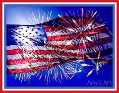 #fourthofjuly #fireworks #flag #celebration #festivities