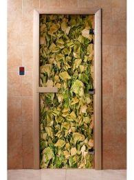 Дверь для бани и сауны с фотопечатью А001, DoorWood Outdoor Structures
