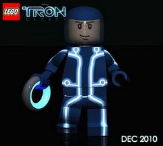 LEGO TRON Minifigure (concept rendering)....unknown artist
