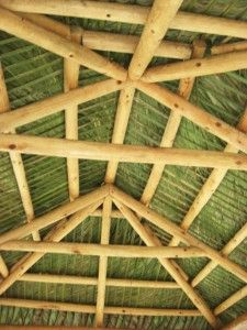 Underside of Tiki Hut - DIY Tiki Hut, Tiki Tiki, Bbq Hut, Tiki Bar Decor, Backyard Plan, Bamboo Architecture, Bamboo House, Unique Restaurants, Tiki Room