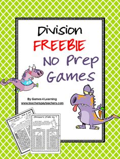 I have finally completed my set of No Prep Math Games with the division games and multiplication games now ready! Remember - al. Teaching Division, Division Math Games, Teaching Math, Teaching Ideas, Kindergarten Math, Math Resources, Math Activities, Fourth Grade Math, Homeschool Math