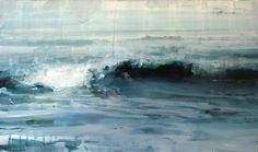 "Alex Kanevsky ""June 11, Overcast"" oil om Mylar mounted on wood, 11"" x 19"""