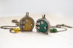 Hey, I found this really awesome Etsy listing at https://www.etsy.com/listing/225493433/yellow-and-green-door-lockets-bff