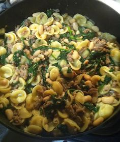 The Golden Spoons: Sausage, Spinach, and White Bean Pasta