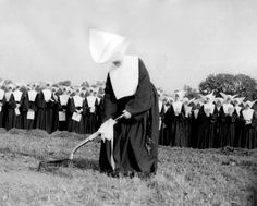 Sister Isabel Toohey, Visitatrix, breaks ground for the new St. Joseph's Provincial House | Daughters of Charity Provincial Archives