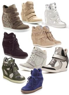 Sneaker-wedges!! the perfect wear to look cool + adding up ur height at the same time!!