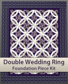 Easy Double Wedding Ring Quilt Piecing Kit by GBlockShop on Etsy, $22.00