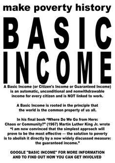 Call for Support of the European Citizens' Initiative for an Unconditional Basic Income
